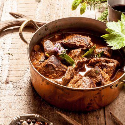 Brieža gaļa, Katls, Recepte