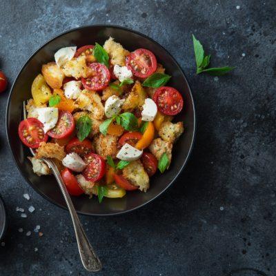 Panacanella, Salāti, Tomāti, Recepte