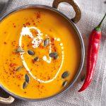 Ķirbju zupa taizemiešu gaumē
