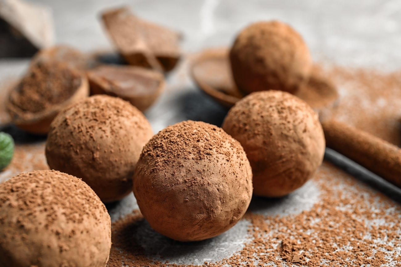 Vegāniskās šokolādes trifeles
